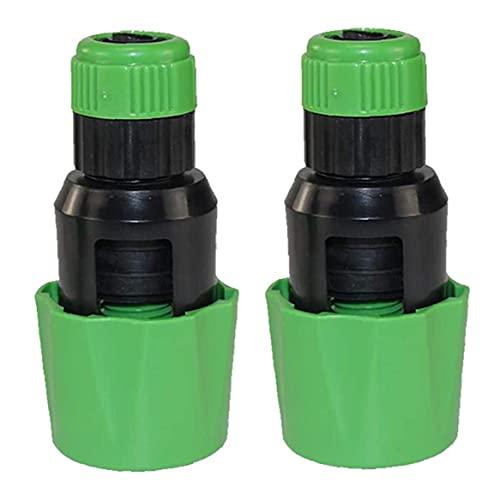NIDONE Adaptador de Grifo de Agua Adaptador de Mezclador Ajustable Conector de Manguera Grifo de Cocina para Manguera de jardín 2pcs