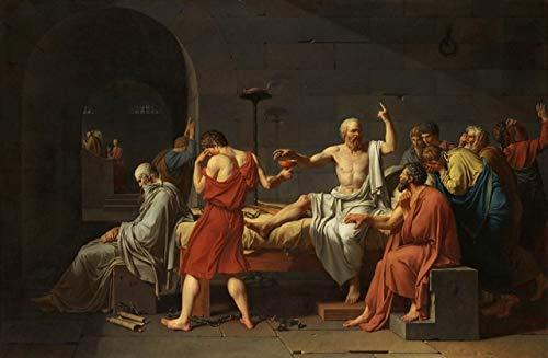 N / A Das berühmte Gemälde Sokrates Leinwand Tod Leinwand Wandbild Poster und Drucke auf dem Wohnzimmer Wohnkultur Gemälde 50x75cm