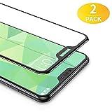 BANNIO 2 Stück für Panzerglas für Xiaomi Mi A2 Lite,3D Full Sreen Panzerglasfolie Schutzfolie für Xiaomi Mi A2 Lite,9H Festigkeit,Leicht Anzubringen,Vollständige Abdeckung - Schwarz