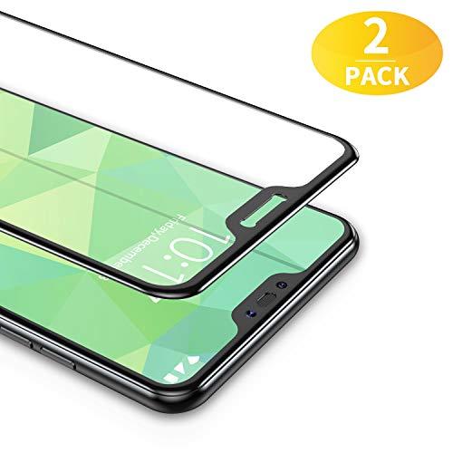 BANNIO 2 Stück für Panzerglas für Xiaomi Mi A2 Lite,3D Full Sreen Panzerglasfolie Schutzfolie für Xiaomi Mi A2 Lite,9H Härte,Leicht Anzubringen,Vollständige Abdeckung - Schwarz