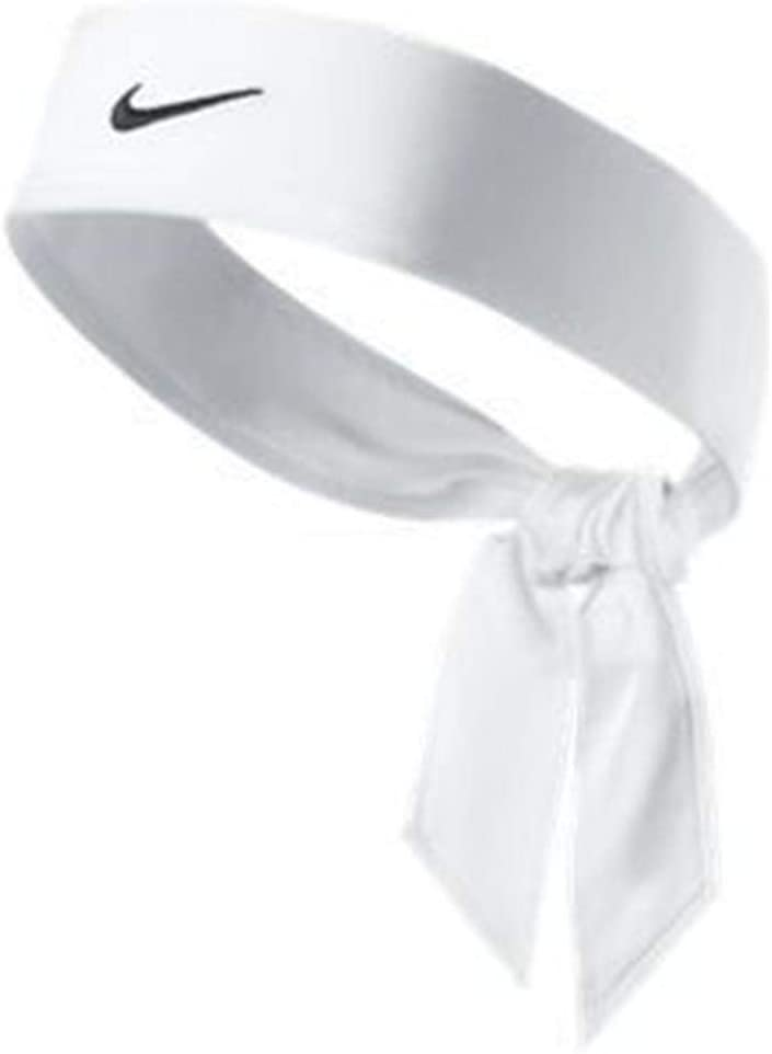 White Halo Headband Sweatband Tie Version