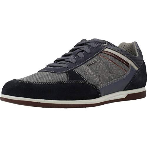 Geox Herren U Renan B Sneaker, Blau (Navy C4064), 44 EU