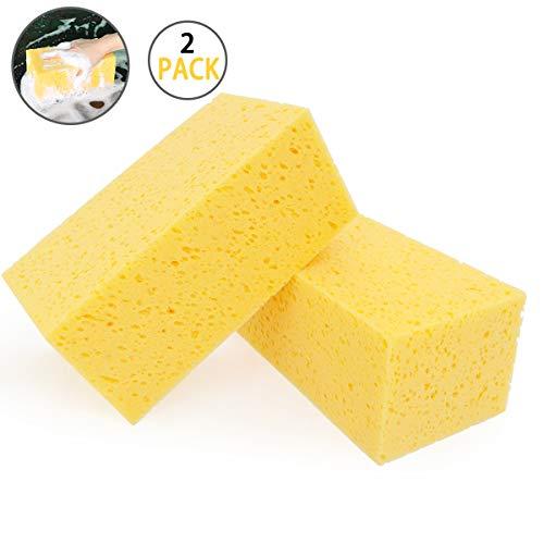 Esponja para Lavado Automotriz Plaza Esponja 2 Piezas Tamaño Extra Grande Microfibra Super Absorbente Ultrafinada para Fibra Cocina Baño