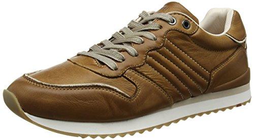 LLOYD Herrenschuh EDICO, sportiver Sneaker aus Leder mit heller Gummisohle, Braun (New Nature 2), 40.5 EU