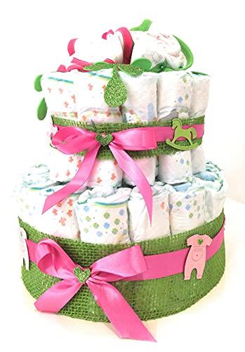 Tarta de pañuelos MC composiciones, cumpleaños, nacimientos, eventos especiales, idea de regalo
