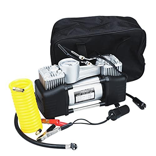 Yardwe Bomba de Compresor de Aire Portátil Bomba de Neumático de Aire Profesional Inflador Digital de Neumáticos 12V Medidor de Presión de Neumáticos para Bicicleta de Coche Pelotas