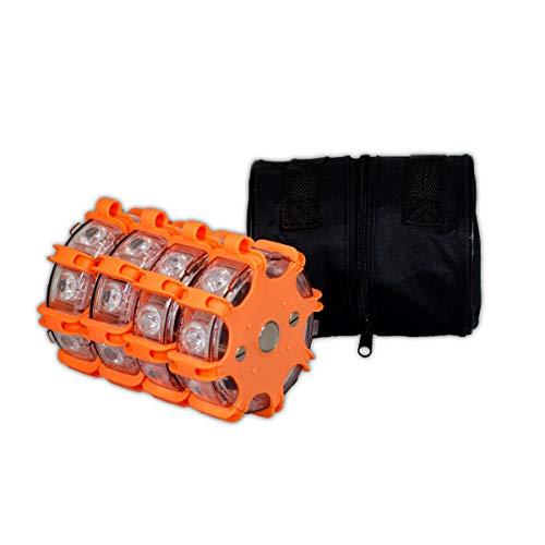 Powerflare Plus 4er Set orange LED Signallichter inkl. Tasche