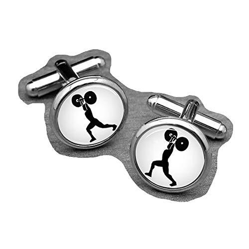chen jian xin Gewicht Lifting Manschettenknöpfe, Sport Manschettenknöpfe. Olympischen Spiele Jewelry
