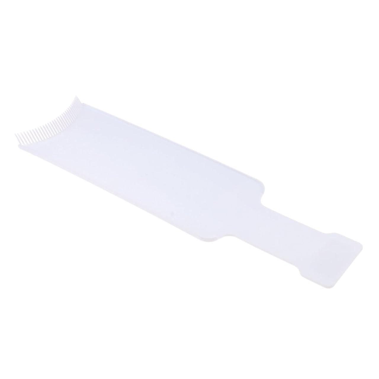割り込みヘルシーバングFenteer 染色櫛プレート 染めボード ヘアカラー 櫛 着色ボード ヘアブラシ ヘアコーム 便利 2サイズ2色選べる - L, 白