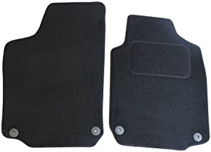 JVL 1319 Fully Tailored Car Mat Set with Clips Pieces  Black