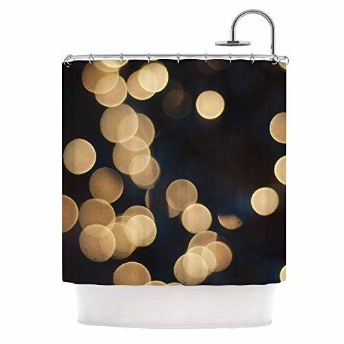 Blurred Lights Black and Gold Shower Curtain