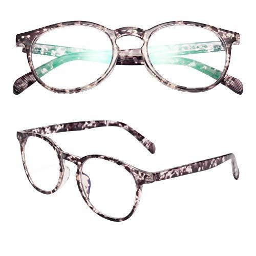 老眼鏡 ブルーライトカット 軽い おしゃれ メンズ レディース ケース付き ボストン ベッコウ 度数+3.00 TR2301
