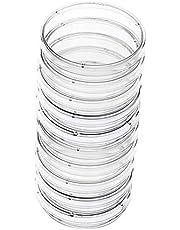 Educativa Petri de plástico Placa de Petri Placas de Cultivo de Tejidos plato desechable Placa de Petri de laboratorio placas de Petri de 60 mm Accesorios de laboratorio 10Pcs
