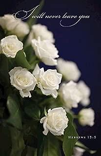 White Roses Funeral Bulletin (Pkg of 50)