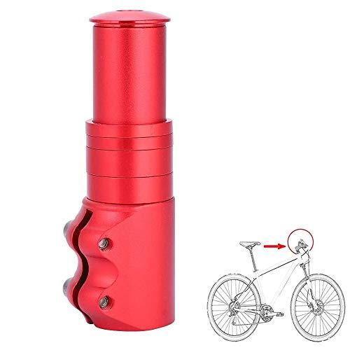 Adaptador Elevador Manillar, Extensor de Vástago de Bicicleta, Ajustable Ligero Aleación de Aluminio Extensor de Potencia de Horquilla de Bicicleta para Bicicleta de Montaña, BMX (Rojo)
