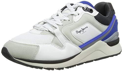 Pepe Jeans London X20 Urban Zapatillas para Hombre , Blanco ( 800WHITE ) , 43 EU