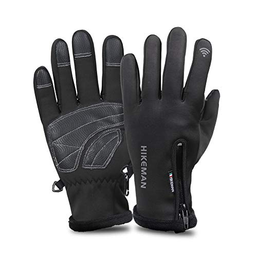 KOBWA warme Winter-Sport-Handschuhe, Touchscreen-Handschuhe, Outdoor, Radfahren, Autofahren, Laufen, Skifahren, Thermo-Handschuhe für Männer und Frauen, M