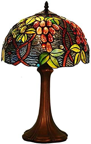 CXSMKP Lámpara de Mesa Estilo Tiffany de 30,48 cm, Estilo Retro Europeo, luz de Escritorio, decoración de mesita de Noche, Luces de Lectura para salón, cafetería, Bar