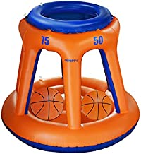 Kyerivs Pool Basketball Hoop, Swimming Pool Games, Inflatable Pool Basketball Hoop with Balls Included, Summer Outdoor Inflatable Pool Toys Sport for Adults Kids Family