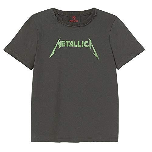 Amplified Metallica Neon Logo Bambini Band T Shirt Unisex Ragazze Ragazzi 3-4 Years