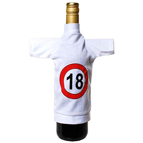 1 stuk mini-flessen-T-shirt 'verkeersteken - 18', ca. 23 x 30 cm, LOLLIPOP®