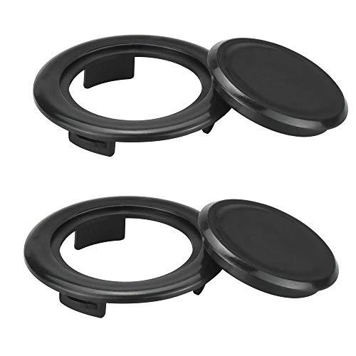 FAVENGO 2 Stück Tischschirm Loch Ring mit Kappe Schirmloch Ring Tisch für Sonnenschirm Kunststoff Lochring Tisch 42 mm Innendurchmesser Sonnenschirmloch Tischdecke für Outdoor Terrasse Schirm Stecker