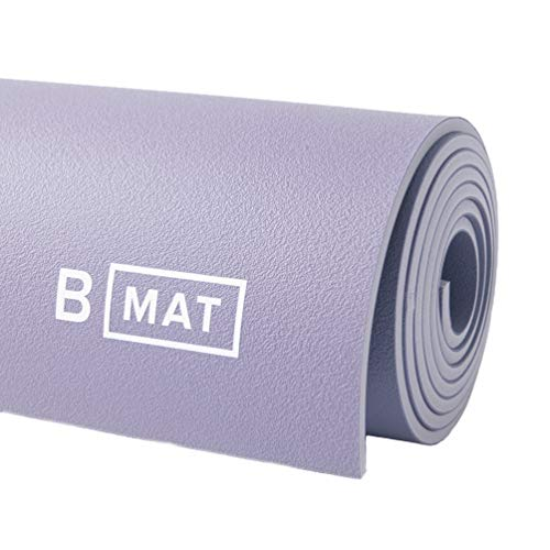 """B YOGA Mat for Men and Women, 6mm Thick, 71"""" x 26"""", Lavender - 100% Rubber, Non-Slip Floor Workout Mat for Yogis, with Superior Cushioning for Comfort - Premium Fitness and Pilates"""