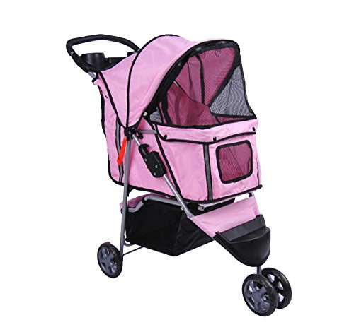 Bc-elec - 5663-0015Apink Tier-Buggy Hundebuggy mit 3 Rädern, Farbe rosa