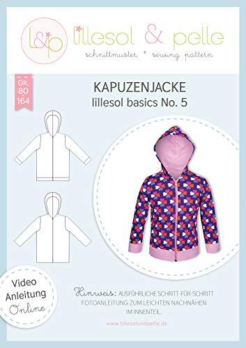 lillesol & pelle Schnittmuster lillesol Basics No.5 Kapuzenjacke in Größe 80-164 zum Nähen mit Foto-Anleitung und Video
