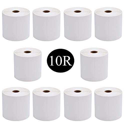 SJPACK 10 Rolls 4x6 Shipping Labels 1744907 Compatible 4XL Postage Labels - Perforated 4 x 6 Thermal Shipping Labels,Strong Permanent Adhesive (10 Rolls - 220 Labels Per Roll)