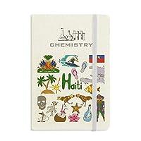 ハイチ島風景動物の国旗 化学手帳クラシックジャーナル日記A 5