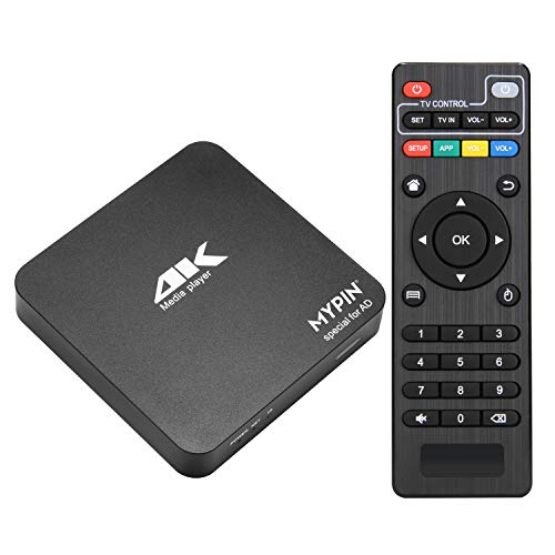 4K@60Hz MP4 Media Player Support 8TB HDD/ 64G USB Drive/SD Card with HDMI/AV Out for HDTV/PPT MKV AVI MP4 H.265- Support Advertising Logo/Subtitles/HDR and Remote Control