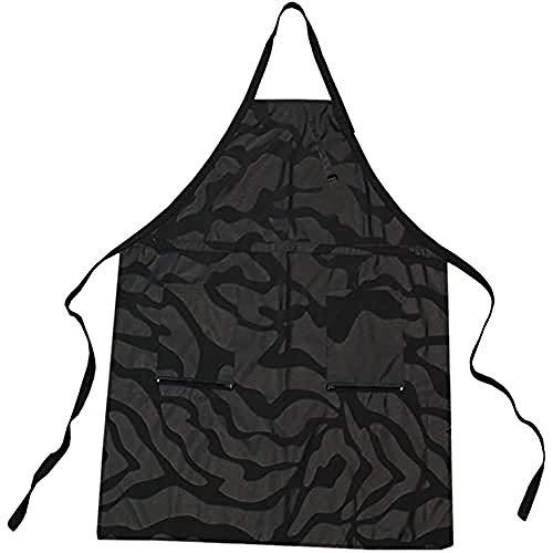Trend Design Nano Apron Färbeschürze mit Werkzeuggürtel und Reißverschlusstaschen, schwarz, 1er Pack (1 x 1 Stück)