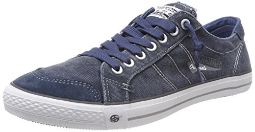 Dockers by Gerli Herren 30ST027-790670 Sneakers, Blau (dunkelblau 670), 45 EU