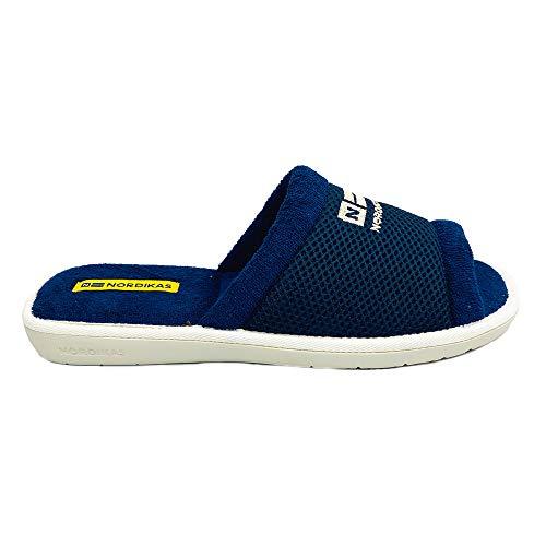 NORDIKAS 1511B Zapatillas DE Estar por CASA Azul (Azul, Numeric_42)