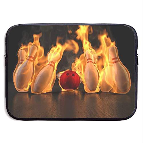 Funny Z Wasserdichte Laptop Schutzhülle Fire Bowling Print Business Aktentasche Schutzhülle Computer Case Cover 15×11.4 Zoll