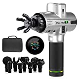 Massage Gun Deep Tissue Percussion Massager, MG3 Upgraded Handheld Sports Drill Quiet Brushless | 9 Speeds, 8 Interchangeable Heads, Long Life Battery 5200mAh | Helps Relieve Sore Muscle & Stiffness