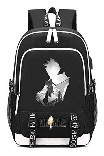 Gumstyle Final Fantasy Game Multifunction Schoolbag Travel Bag Laptop Backpack with USB Charging Port and Headphone Jack 7