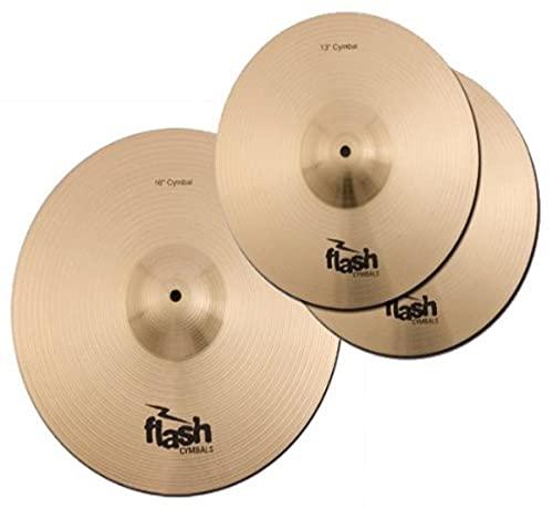 Flash Impact Series 36 Schlagzeug Becken Set (Drum Cymbals, 13