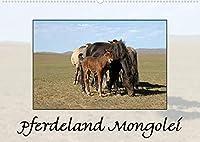 Pferdeland Mongolei (Wandkalender 2022 DIN A2 quer): Weites Land, kleine Pferde, grosses Abenteuer (Monatskalender, 14 Seiten )