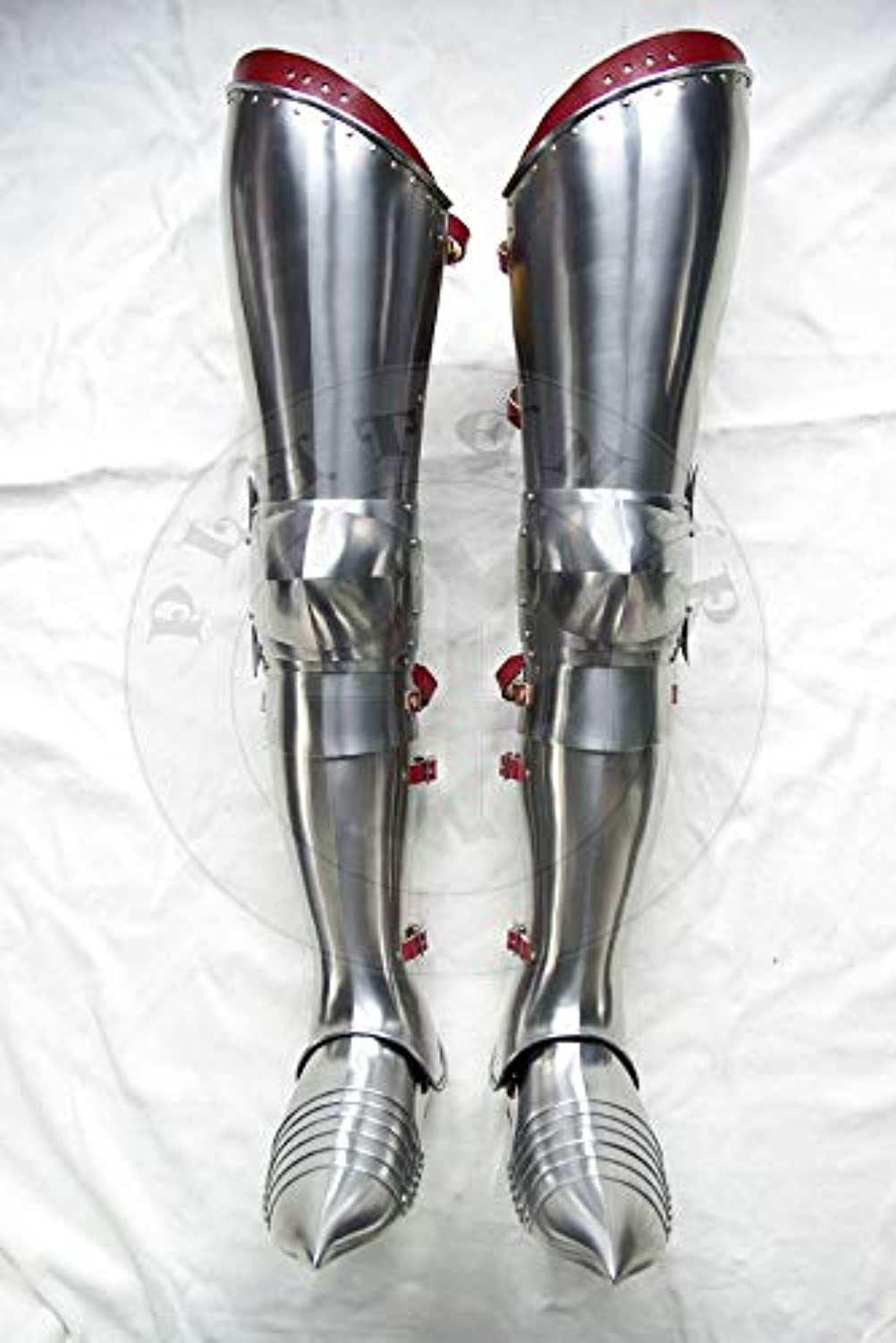 LM Handicrafts Medieval Gothic Leg SCA Armor Complete Fluted Cuisines Knees and Graves Reenactment