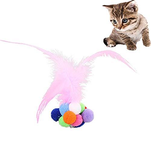 Gofeibao Katzen Spielsachen Katzenspielzeug Beschäftigung Katzenfeder Spielzeug...