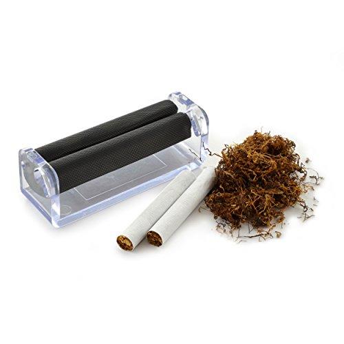 Ganzoo Zigarettendrehmaschine für Drehtabak, Zigarettenroller, Zigarettenwickler, Zigarettendreher, Drehzigaretten Wickler, Dreher, Tabak, Farbe weiß/transparent, Marke