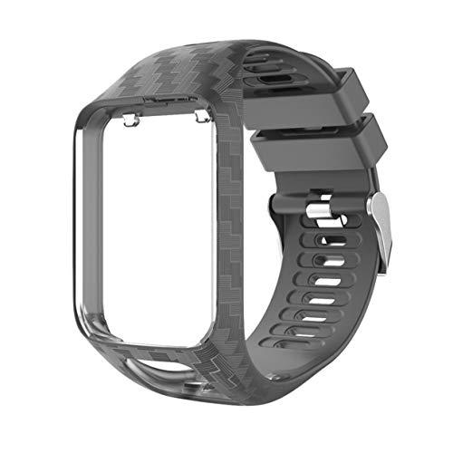 Kurphy Bracelet de rechange en silicone souple pour montre de la série Tomtom