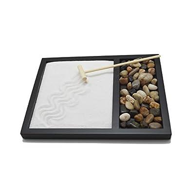 Tatum & Shea Zen Sand Rocks Rake Garden Kit Tabletop Gifts & Decor