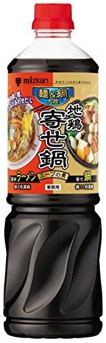 ミツカン 麺&鍋大陸 地鶏寄せ鍋スープの素 ペット 1170g