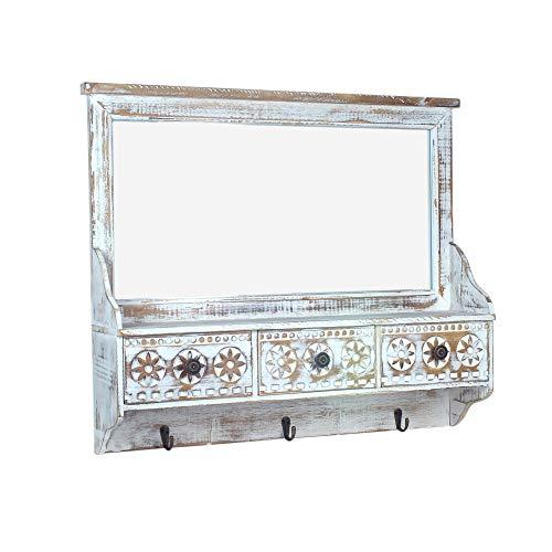 Unbekannt Spiegel, Garderobe, dekorativ, Holz, 66 cm