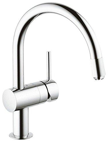 GROHE Minta Küchenarmatur, Schwenkbereich 360°, herausziehbarer Auslauf, Niederdruck, C-Auslauf 32511000