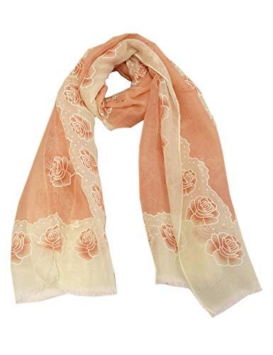 Lolita zomer sjaal doek plaid oud roze wit stola rozen patroon rechthoekige sjaal 5555