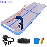 10ft/13ft/16ft/20ft Tumble Track air mat for Gymnastics Training/Home Use/Cheerleading/Yoga/Water with Electric Pump (Blue, 13.12X3.28X0.32 ft(4X1X0.1m))